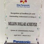 Panasonic Million Dollar Achiever Apr2012 Mar2013 Award 150x150 Awards & Recognition