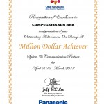 Panasonic Million Dollar Achiever Apr2012 Mar2013 Certificate 150x150 Awards & Recognition
